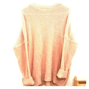 Small Oversized salmon sweater-Worn once!